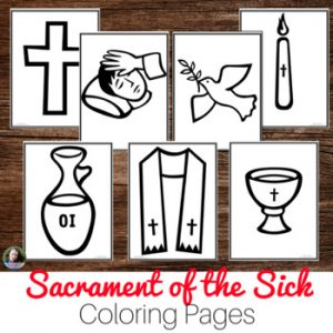 Sacrament of the Sick Coloring Pages