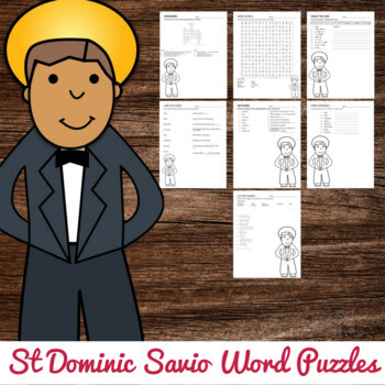 Saint Dominic Savio Word Puzzles