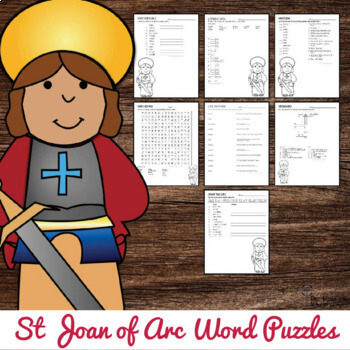 St Joan of Arc Word Puzzles