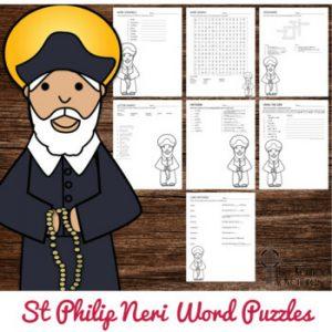 St Philip Neri Word Puzzles