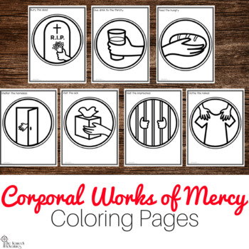 Corporal Works of Mercy Coloring Pages