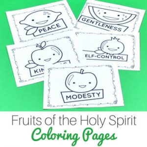 fruits of the holy spirit coloring pages
