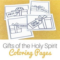 gifts of the holy spirit coloring pages