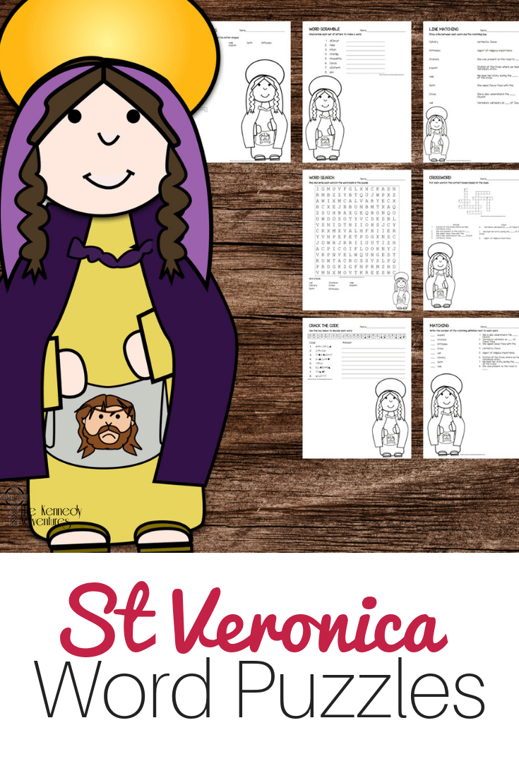St Veronica Word Puzzles #Catholic #CatholicPrintables