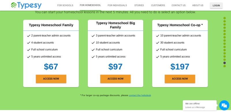 affordable homeschool typing program