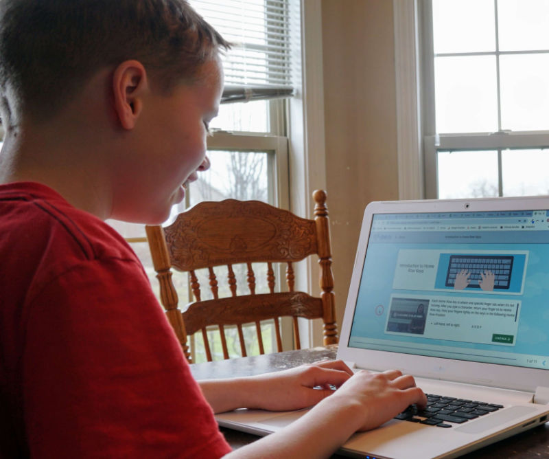 You can teach your homeschooler how to type with this awesome program.