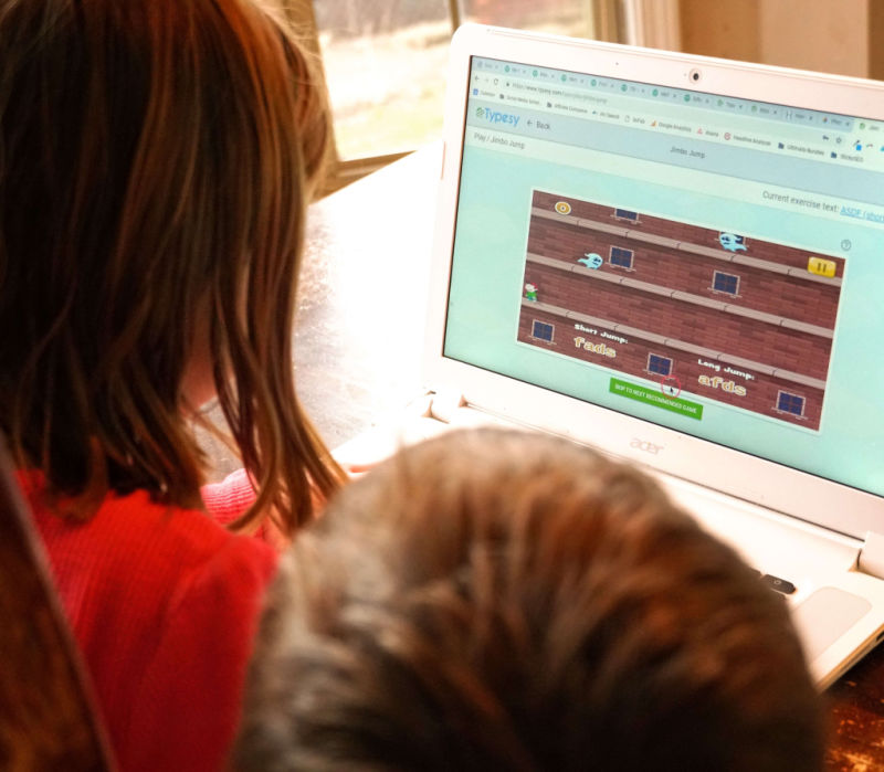 These typing games for younger children can help them practice.