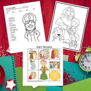 Saint Nicholas Activities for children